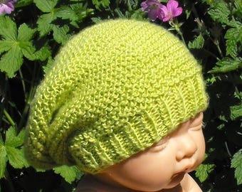 50% OFF SALE Instant Digital file pdf download Baby Silk Garter Stitch Slouch pdf download knitting pattern - MADMONKEYKNITS