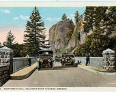 Antique Oregon Postcard - Shepperds Dell along the Columbia River Highway (Unused)