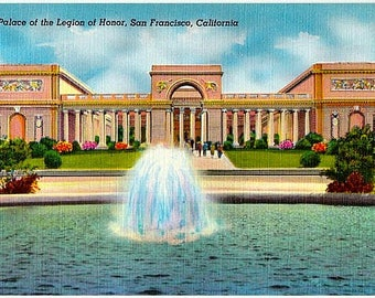 Vintage California Postcard - The Palace of the Legion of Honor, San Francisco (Unused)