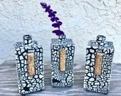 Handmade White Crackle Porcelain Bud Vase