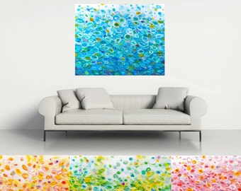 Custom Abstract Painting, Colorful Ombre, Choose your own colors & size, Contemporary Art, Modern Home Decor, Interior Design by Torrant