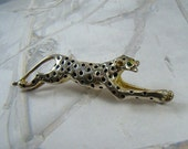 HOLD for KATHLEEN Vintage Jaguar Brooch Green Rhinestone Eyes Detailed  Gorgeous Jungle Cat Brooch - Plus a Bonus!