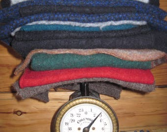 Felted Sweater Fabric Felted Wool Pieces for Craft Projects Free US Shipping