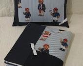 "ABC Baby Blanket and Pillow Set - Ralph Lauren ""Polo"" Teddy Bears Fabric"