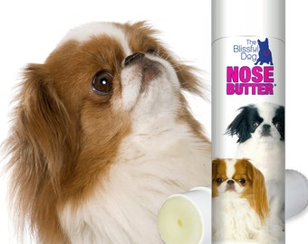 Japanese Chin NOSE BUTTER® Handcrafted All Natural Balm for Dry Crusty Dog Noses .50 oz Tube with Darling Duo Label in Gift Bag