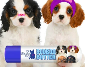 Cavalier King Charles Spaniel Boo Boo Butter Handcrafted All Natural Balm for Your Dog's Itchy Skin Issues & Random Discomforts .15 oz Tube