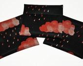 Orange Acid Rain PUL Pad Wrapper/ Mini Travel Wet Bag