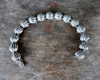 Vintage Monet Sterling Silver Link Bracelet - 49 grams