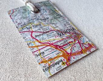 Verona Italy original map luggage tag