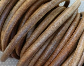 free UK postage - Indian 5mm Leather Natural 1 meter