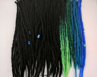 Full kit of 70 Synthetic dreads, synthetic dreadlock extensions, dreadlocks, dreads, synthetic dreadlocks, dreadlock extensions, dread, locs