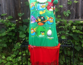 T Shirt Dress, Slashed, Angry Birds Slashed