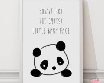 You've got the cutest little baby face wall art print