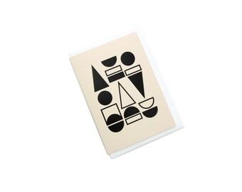 FOIL PRINTED CARD - Black on vellum