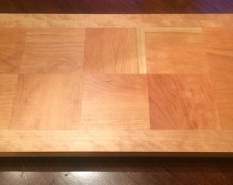 Cherry Butcher Block Cutting Board and Serving Tray