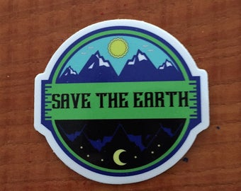 Save The Earth Sticker, Climate Change Sticker, Protest, Protest Sticker, Peace Sign, Environmental Sticker, Earth Day Sticker, Tree Art