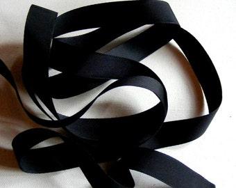 Vintage 1930's-40's Petersham Grosgrain Ribbon -Milliners Stock- 3/4 inch Black
