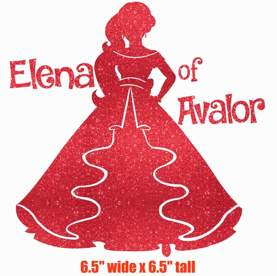Elena Of Avalor Silhouette Iron On Glitter Disney Transfer
