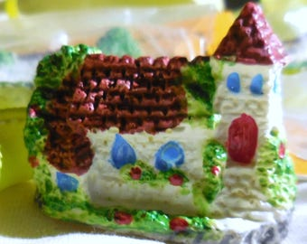 Mini Resin English Country Cottage / Fairy Village / Assemblage / Landscape