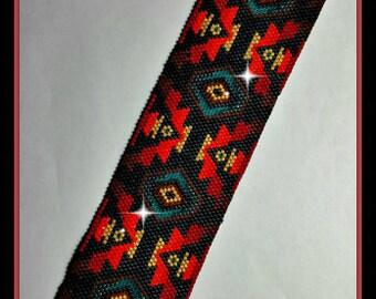 BP-PEY-089-2017-049 - Bliss - Large - Peyote PATTERN, beadweaving pattern, Peyote Bracelet Pattern, beaded bracelet, bracelet pattern