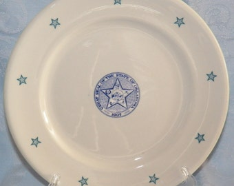 Vintage Shenango China Restaurantware Dinner Plate The Great State of Oklahoma