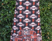 BBQ style apron, San Francisco Giants, baseball, black apron