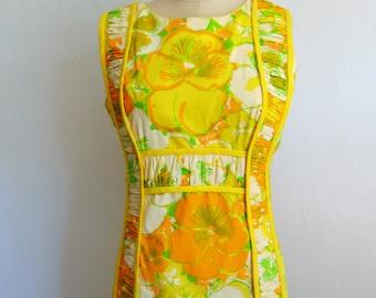 60s Lilly Pulitzer mod print MAXI dress size small/medium