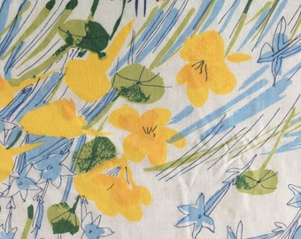 Vera Neumann Floral Fitted Full Sheet CUTTER - Reclaimed Bed Linens
