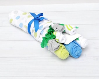 Baby Boy Gifts, Baby Shower Gift, Baby Present Ideas, Blue and Green Baby Shower, Unique Baby Gift, Flowers for New Baby, Boy Baby Shower