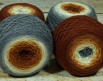 "Full "" Kitsune "" -Lleap Handpainted Gradient Sock Yarn"