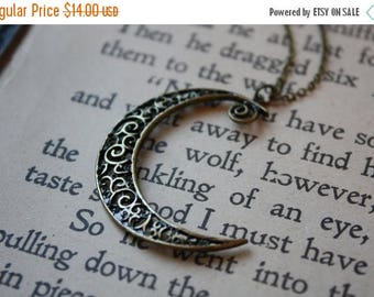ON SALE Crescent Moon Necklace