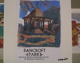 Hitchin Prints Card: Bancroft Park