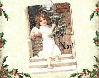 Christmas, Gift Tags, Angel, Christmas Tags, Noel, Angel Tags