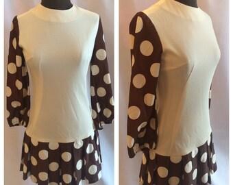 1960's Mod Polka Dot Scooter Dress