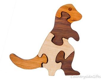 Wooden Puzzle -  Wood Puzzle – T-Rex Puzzle