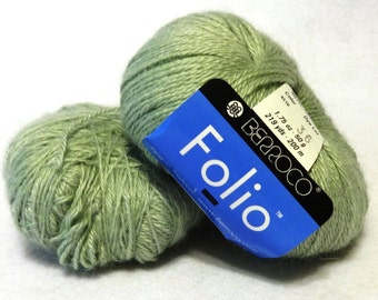 Stash Sale - Berroco Folio Yarn, Alpaca Yarn, Rayon Yarn, Mint Green Alpaca Yarn, Berroco Yarn, Sale Yarn, Green Yarn, Mint - 2 balls