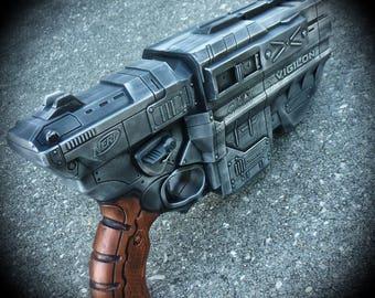 Steampunk Gun Nerf N-Strike Vortex VIGILON  Blaster  Victorian Gothic Zombie Vampire killer soft dart disc toy Limited