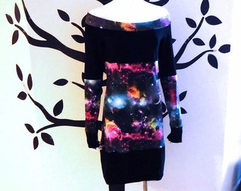 Space / Galaxy • Off Shoulder • Tunic Top / Dress • Medium - Large