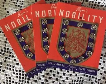 Three Cards Prym's Nobility Snaps - No. 0  FREE Shipping