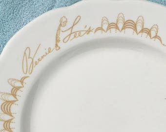 Restaurant Ware Plate From Bernie Lee's Penn Hotel Baltimore Maryland Towson