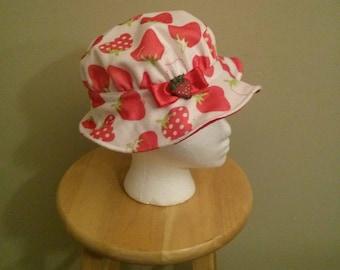 Strawberry Shortcake hat for Halloween /birthday theme