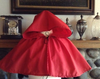 Little Red Riding hood costume, fairy tale, womens costume, Halloween Red Riding hood cape