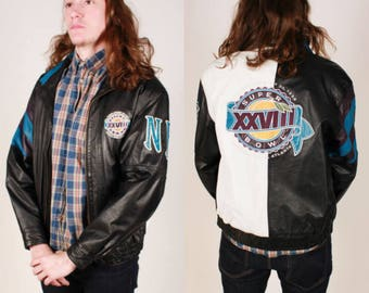 Vintage NFL Super Bowl XXVII Leather Jacket
