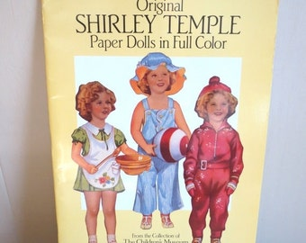 SALE Vintage 1988 Collectible Original Shirley Temple Paper Dolls by Childrens Museum of Boston MINT