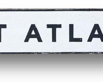 East Atlanta block letters neighborhood sign 37 x 7