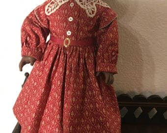 1800's Style Dress for 18 Doll