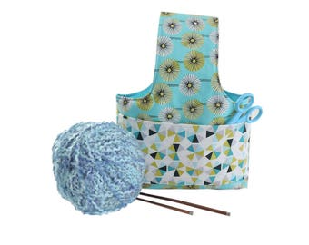 knitting project bag crochet project bag small project bag organizer wristlet project bag