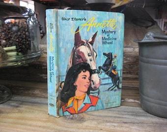 Annette Mystery at Medicine Wheel,Annette Funicello Mystery Book,Mystery at Medicine Wheel,Vintage Disney Book,Disney Mysteries, Annette