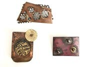 Copper Brooches/Textured Brooches/Art Jewelry