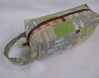 Sewing Measurements Bag with Surprise Embroidery Inside Cosmetic Bag Makeup Bag LARGE